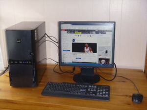 Dual-Core Desktop Computer with Monitor