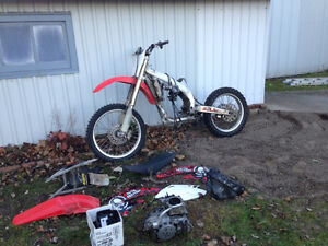 2004 crf 450 part out