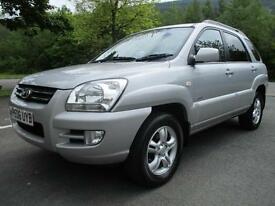 06/06 KIA SPORTAGE 2.0 TD XS 5DR 4X4 IN MET SILVER WITH SERVICE HISTORY