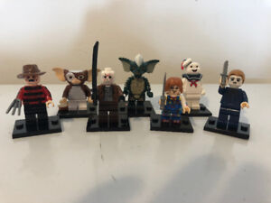 NEW!! All 7 Chucky, Freddy, Jason, Michael Myers HORROR Lego Men