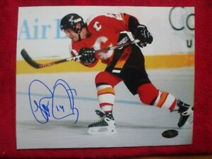 THEO FLEURY Calgary Flames Signed 10 x 8 Photo With COA