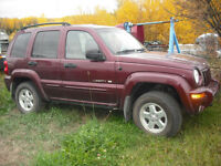 JEEP LIBERTY SELL WHOLE OR PARTS
