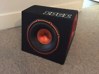 Edge Sub ED510A 750 Watts with Built In Amp and Cables
