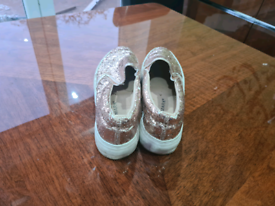 Dazzly Rose gold shoes