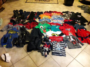 Pre-schooler clothing, jackets, boots, etc