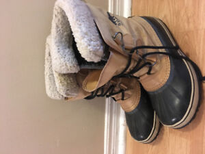 Sorel brown winter boots men's US 7, women's 8