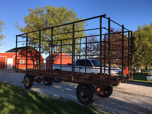 20ft Steel bale thrower wagon