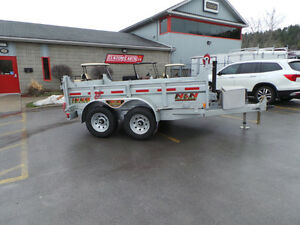 2017 N&N 5Ton Galvanized Dump Trailer - 6x10 HOT DIPPED GALVANIZ