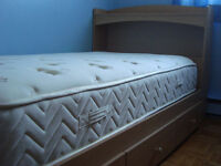 single bed and mattress