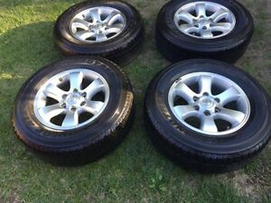 GENUINE TOYOTA PRADO 17INCH ALLOY WHEELS WITH DUNLOP ALL TERRAINS Rowville Knox Area Preview