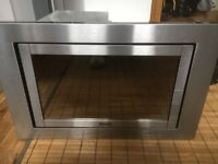Baumatic built in integrated microwave oven 800w stainless steel