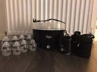 Black Tommee tippee steriliser bottles bottle warmer