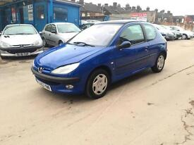 2003/03 Peugeot 206 1.1 VERY LOW MILES ONLY 40k FSH