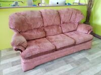 20% OFF SALE NOW ON* G-Plan Pink 3 Seater Sofa Suite With 2 Armchairs - Can Deliver For £19