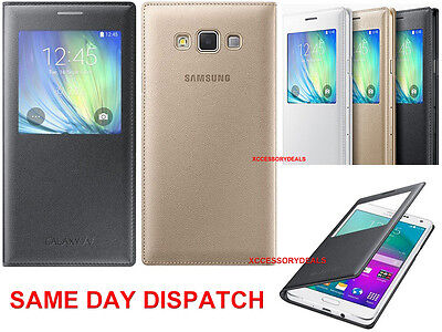 Genuine Samsung S VIEW FLIP CASE Galaxy A7 A700 mobile original cell phone cover A700 Cell Phone