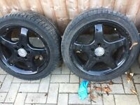Mercedes slk amg alloys complete with tyres and wheel nuts