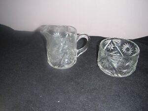 "Glass ""Pinwheel"" Patterned Cream and Sugar Set Kingston Kingston Area image 2"