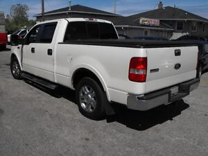 2008 F150 CREW LARIAT  4 DOORS  LEATHER  SUNROOF  PEARL WHITE