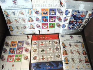 Collection of NHL Hall Of Fame Postage Stamps
