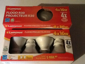 NEW in boxes R30 flood CFL 16W bulbs