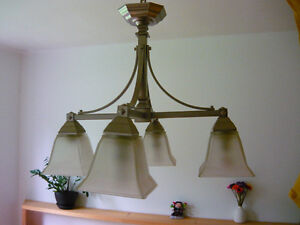 INDOOR HANGING LAMP SILVER. LAMPE INTERIEURE West Island Greater Montréal image 1