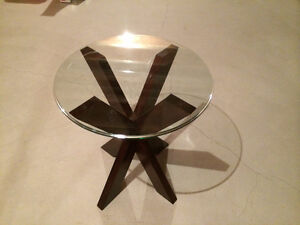 Bombay Glass Side Table