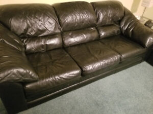 2 piece leather couches