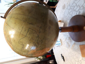 German Antique Globe with compass