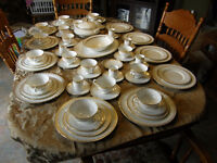 Royal Doulton China Gold Lace H.4989 Service for 12 Discontinued