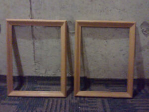 Set of 2 wooden frames size 16 x 14 inches Brand new London Ontario image 2