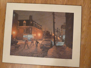 Hockey painting montreal canadiens