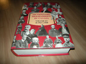 Dictionnaire biographique du Canada : Volume XV de 1921 à 1930
