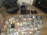 PS3 Bundle with 65 games - gaming chair - 2 controllers - keyboard remote