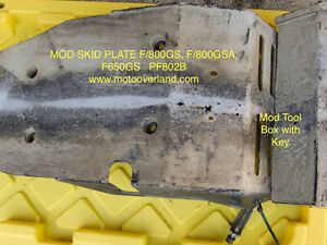 MOD Skid Plat and Tool Box for BMW F/800GS, F/800GSA, F/650GS