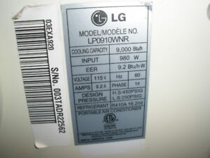 Lg Portable Air Conditioner 10,000 btu  ( FOR PARTS )