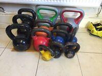 Kettlebells, dumbells, barbells, weight plates