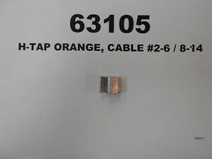 63105 - H-TAP ORANGE, CABLE #2-6 / 8-14 West Island Greater Montréal image 1