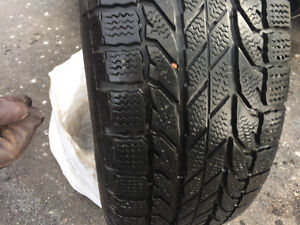 Gently used Goodyear Slalom winter tires on rims!