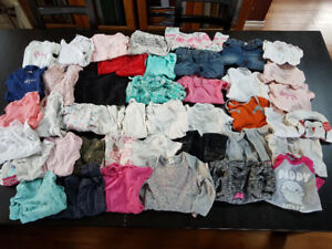 Lot of 43 Items of Girl's Clothes - Size 6-12 Months