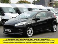 2013 FORD FIESTA VAN SPORT TDCI DIESEL VAN IN BLACK WITH ONLY 50.000 MILES,AIRCO