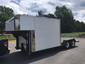 5th Wheel Trailer with Insulated Box and Flat Deck