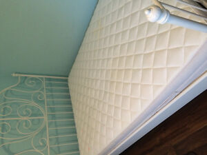 Double White Leirvik Bed Frame and Double Mattress