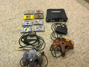 N64 Console with all Cables, 8 Games and Controller