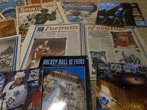 1993 TORONTO MAPLE LEAFS FANS NEWSPAPER SCRAPBOOK COLLECTION WOW Cambridge Kitchener Area image 10