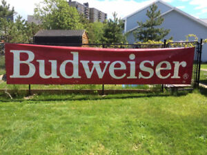 Budweiser and Moosehead vinyl banners new prices.
