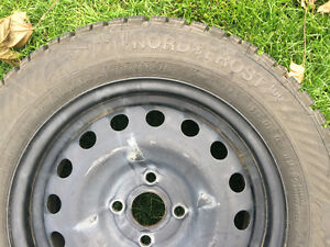 Gislaved Nordfrost 100 92T XL 185/65/15 - tires and steel rims Kitchener / Waterloo Kitchener Area image 4