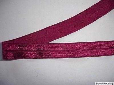 10m Gummiband 0,28€/m dunkel pink 15mm breit V39