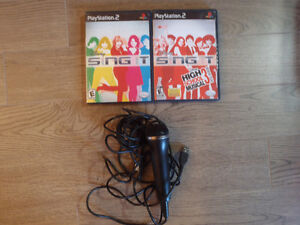 2 Disney's Sing-It Games and a Microphone for PS2