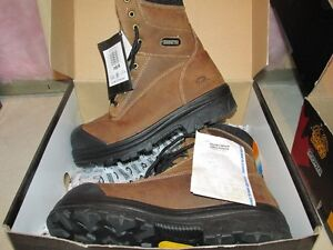 8 in on size 10 steel toed  men work boots