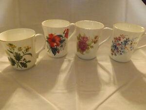 4 Bone China Coffee or Tea Mugs